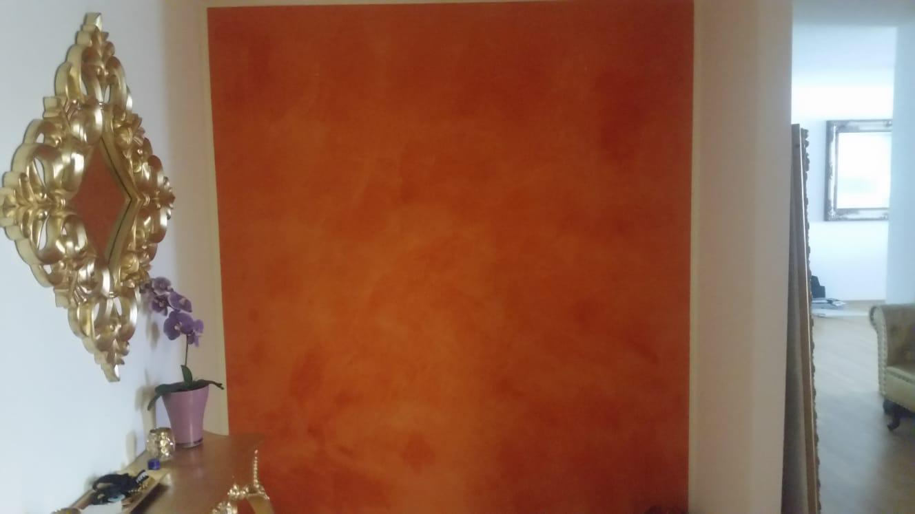 Wanddesign-Orange-MHB-Konzeptbau